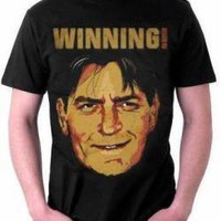 ROCKWORLDEAST - Charlie Sheen, T-Shirt, Winning Sepia