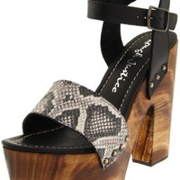 Rough Justice Women`s Karma Clog,Black Python,7.5 M US