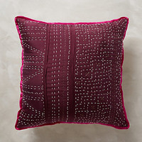 Stitched Silk Pillow