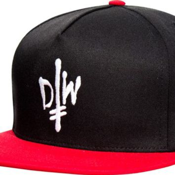 Deathwish Street Spray Snap Back Hat - black/red - Free Shipping