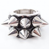 Silver Ring - Silver Metal Spike Ring with | UsTrendy
