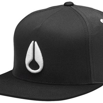 Nixon Simon Snap Back Hat - sterling/charcoal - Free Shipping