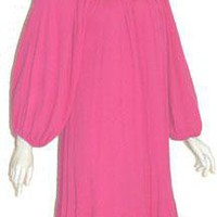 Bila Vintage Hippic Chic Pink Cotton Dress