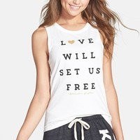 Spiritual Gangster 'Love Will Set Us Free' Muscle Tee