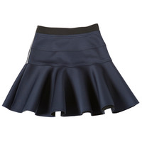 [럭키슈에뜨] [Re-Order] Aqua Fabric Flare Skirt