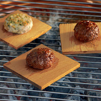 The Green Head - Red Oak Burger Grilling Planks