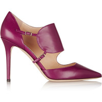 Jimmy Choo | Heath leather pumps | NET-A-PORTER.COM