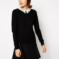 ASOS Sweater With Lace Collar
