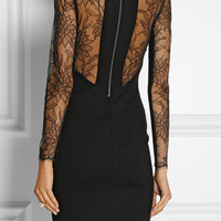 Mason by Michelle Mason | Stretch-ponte and lace dress | NET-A-PORTER.COM