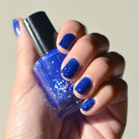 Nail Polish Fantasia Bright Blue Jelly Polish with by MaisieShine