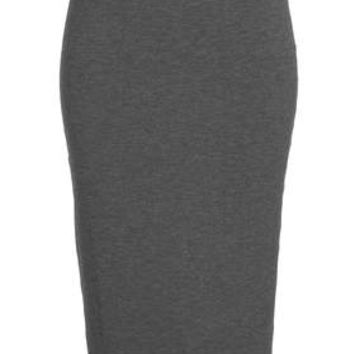 Sporty Waist Band Tube Skirt - Grey