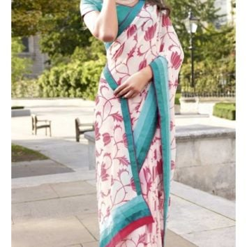 Buy Traditional Wear Casual Printed Saree Designer wear at Shibori Fashion