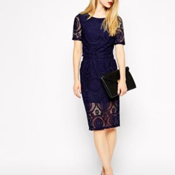 Girls on Film Lace Pencil Skirt at asos.com