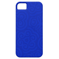 Dark Blue Abstract Pattern iPhone 5 Cover