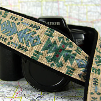 Southwestern Camera Strap, Tribal, dSLR, SLR, Native American Inspired, 187