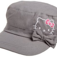Berkshire Fashions Girls 7-16 Hello Kitty Gray Cadet Hat