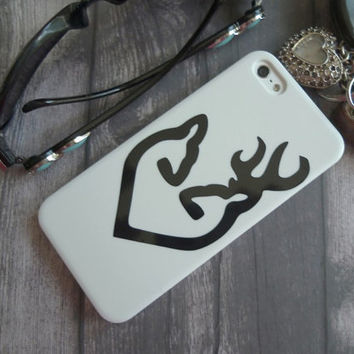 Buck and Doe Heart iPhone 5 case, Doe and Buck Heart, iphone 5, hard cell phone case, couples, birthday gift
