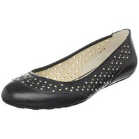 MICHAEL Michael Kors Women`s Colette Flat,Black,8.5 M US