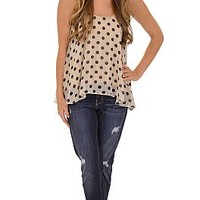 Dips and Dots Tank :: NEW ARRIVALS :: The Blue Door Boutique