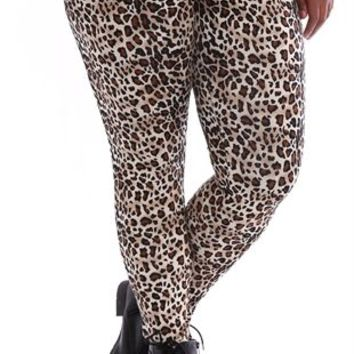 Plus Size Legging with Cheetah Print