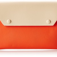 BCBG Sophie Envelope Clutch,Vermillion Combo,One Size