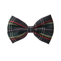 Tartan Plaid Bow Barrette