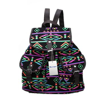 BESTOPE® High Quality & Brand New Vintage Retro Floral Ladies Canvas Bag /School Bag/Backpack