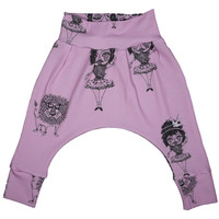 Orchid Carnival Drop Pants - Minou Kids