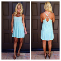 Knit Pick Tiered Summer Dress - MINT