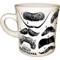 Great Moustaches Mug Mugs/Glass best - Unemployed Philosophers Guild Gifts