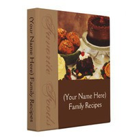 Personalized Recipe Binder from Zazzle.com