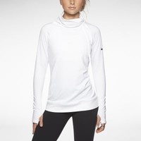 Nike Pro Hyperwarm Hybrid Women's Training Top - White