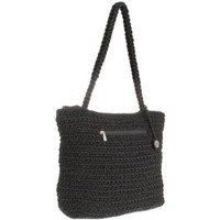 The SAK Casual Classics Top Zip Tote,Black Static,One Size