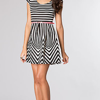 Short Striped Short Sleeve Dress