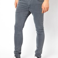 ASOS Super Skinny Jeans In Washed Grey