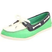 Sperry Top-Sider Women`s Montauk Shoe,Green,6.5 M US