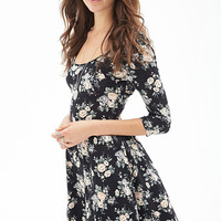Cutout Crossback Floral Dress