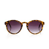 Round Blonde Tortoise Sunglasses