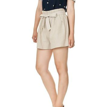 Ribbon Tie High Waist Shorts