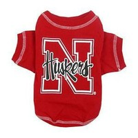 NCAA University of Nebraska Pet T-Shirt, Medium