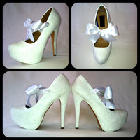 The Vow Glitter High Heels by ChelsieDeyDesigns on Etsy
