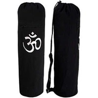 YogaAccessories (TM) Black OM Cotton Yoga Mat Bag