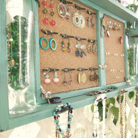 Jewelry Organizer Wall Display Message BoardJADE by datedbydesign