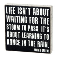 ''Dance in the Rain'' Wall Plaque