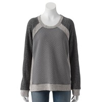 Apt. 9 Quilted French Terry Sweatshirt - Women's