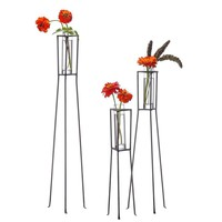 Set of 3 Bud Vases and Stands - Patio