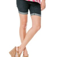 Motherhood Maternity: Secret Fit Belly(tm) Cuffed Maternity Bermuda Shorts