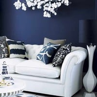 Living room with dark feature wall | Living rooms | Design ideas | Image | housetohome.co.uk