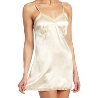 Intimo Women's Silk Chemise & Thong Set - 35005