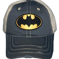Batman DC Comics Super Hero Fuzzy Logo Baseball Cap Hat